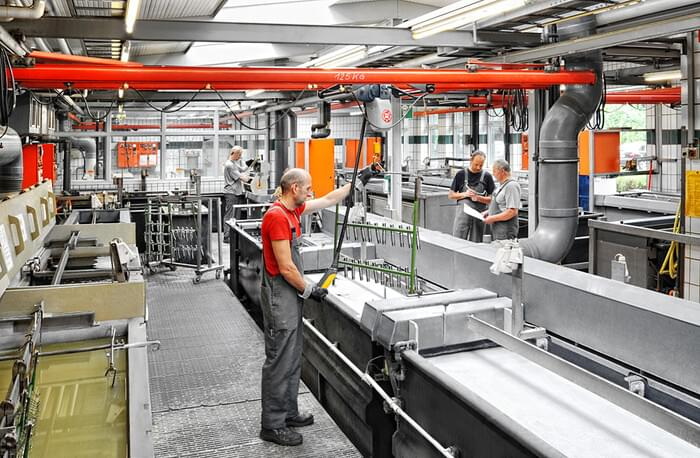 Plant Göttingen, Electroplating plant for special functions