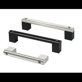 Handles with tube of extruded aluminum or stainless steel
