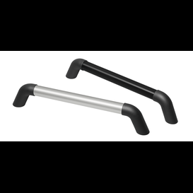 Handles with ledge of aluminium and shanks of polyamide